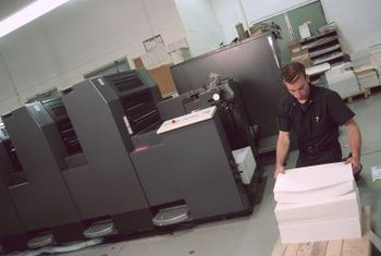Jobs in digital printing are labor intensive and require a lot of standing, lifting and moving.
