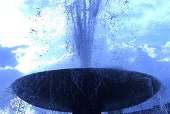 Winter damage can ruin a water fountain urn.