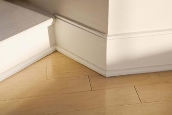 A baseboard must be cut to match the angle where two walls meet.