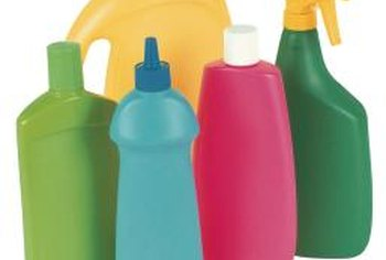 Laundry detergents and chemicals can be stored out of sight.