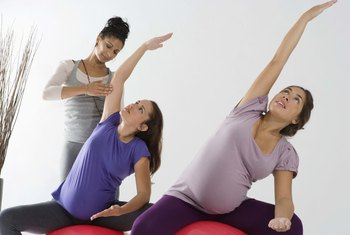 Monitor your heart rate during late-term pregnancy exercise.