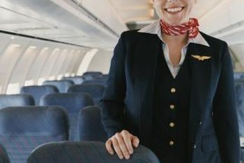 You might need to meet height restrictions to get a job as a flight attendant.