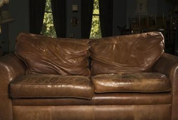 Use only products designed for leather upholstery to repair damage to your leather couch.