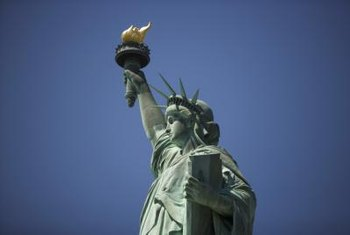 The Statue of Liberty once appeared shiny and brown, rather than green.