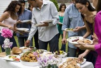 Avoid overeating at the boss's informal gathering.