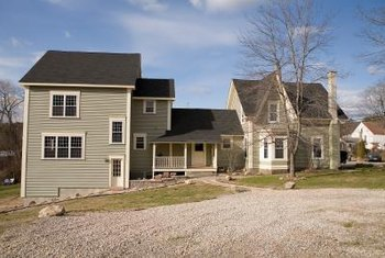 Country and rural homes tend to have gravel driveways.