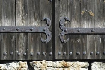 Build a decorative Mexican-style gate with wooden doors.