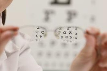 Eyeglasses or contact lenses alter the way light enters the eye to correct astigmatism.