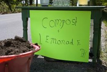 Compost tea is made by adding well-finished compost to water and allowing it to steep for a few days.