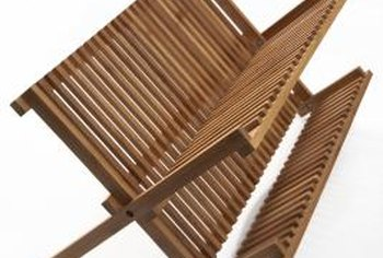 Bamboo drying racks should be towel dried after putting away dishes to help inhibit mold growth.