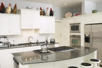 You can add the look of stainless steel to your kitchen without replacing anything.