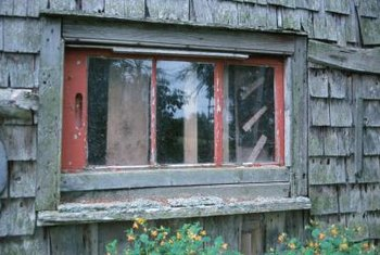 Older windows use molding to secure glass panes.