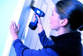 Fixing a door that rubs the floor may be as simple as adjusting the hinges.