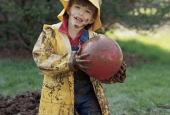 A muddy yard can make everyday activities very messy.
