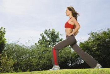 Add lunges to your weekly routine to help balance your hips.