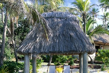 The palapa keeps you cool on warm sunny days.