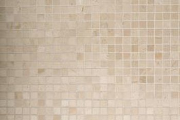 Enhance a room with a mosaic self-stick, vinyl tile wall.