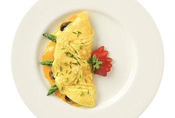 An egg white omelet is filled with protein to keep hunger at bay.