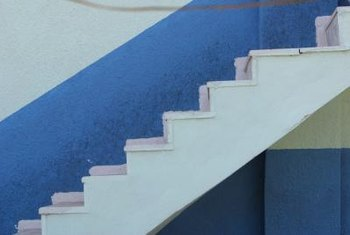 Open stairs tend to pull away from the wall leaving unsightly gaps.