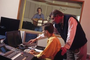 It takes a substantial crew to create a master recording.