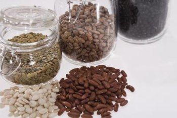 Beans and lentils serve as rich sources of fiber.
