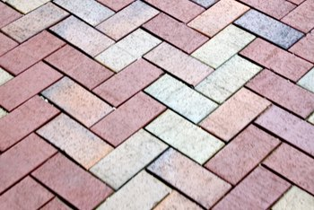 A diagonal herringbone is one pattern you can create with bricks.