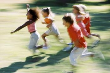 Running outdoors is an ideal way for children to release energy.