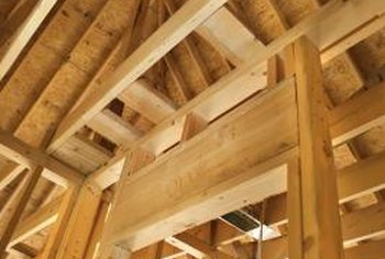 The horizontal beams that support a ceiling are called joists.