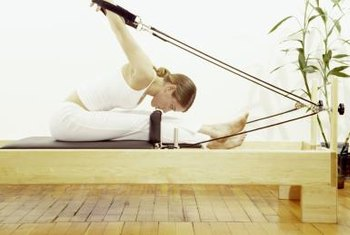Pilates machines are not necessary for this exercise, but add a cardiovascular component.
