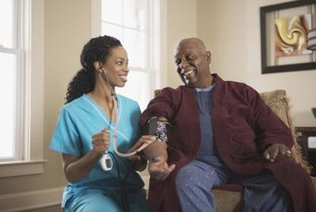 Registered nurses can measure a patient's blood pressure.