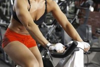 Riding an exercise bike can strengthen your legs.