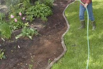 Curved borders make your landscaping look less formal.