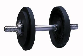 Using a single dumbbell helps you focus on the side you're working.