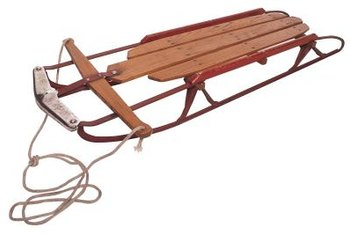 The integrity of an antique sled should be preserved as much as possible.