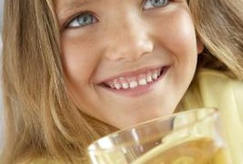 Apple juice is a popular beverage for children.
