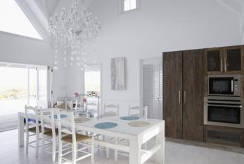 Open dining spaces have an airy, spacious feel.