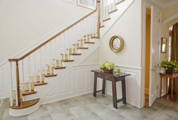 Wainscoting adds a finished look to your stairs.