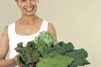 Leafy greens are a good source of both B vitamins and calcium, two helpful nutrients for perimenopause.