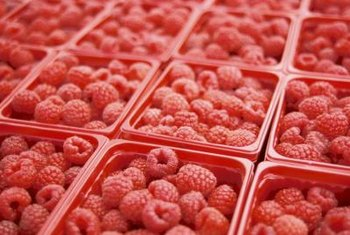 Rasberries are also known as cane berries and brambles.