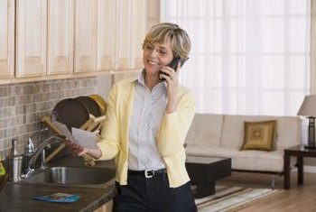 You can make money from home answering phones.