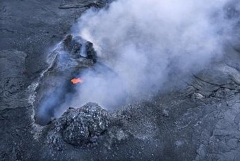 Volcanic activity contributes to creation of greenhouse gases.