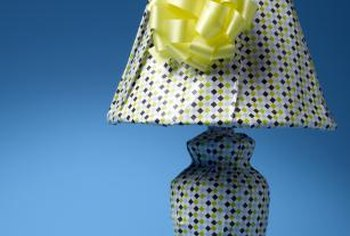 Fabric can upgrade an old-fashioned lamp.