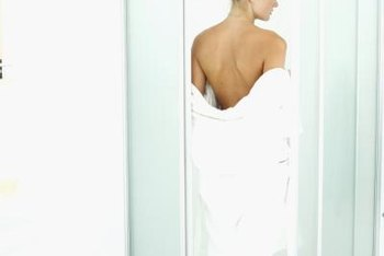 A prefabricated shower can be installed quickly as long as it fits the available space.