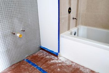 Installing a pressure valve involves a retrofit behind the shower wall.