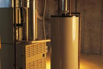 Construct a wall between the heating system and the water heater.