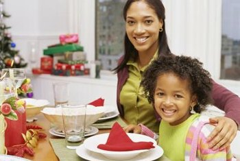 Create memories making a holiday centerpiece with your children.