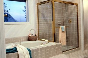 Select frameless or framed doors in a style that complements the bathroom decor.