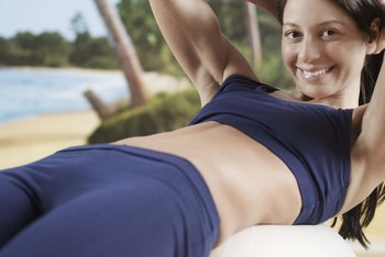 Sit-ups on an exercise ball require greater core stability.