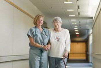A CNA may help patients walk, feed or dress themselves.