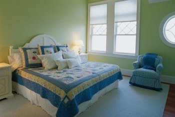 Use bedding colors as inspiration for a coordinated bedroom color scheme.